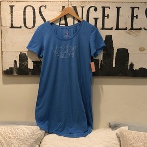 Victoria Secret COTTON Lingerie XL Blue Nightgown